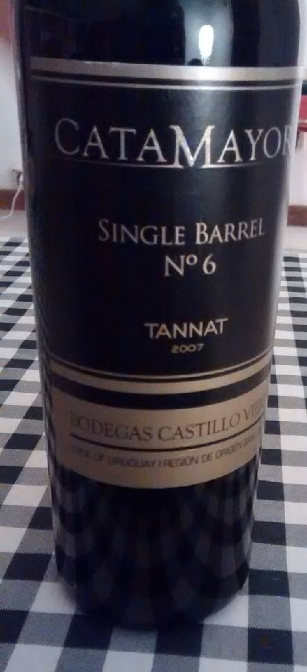 Single Barrel Nº6 Tannat 2007 Catamayor de Bodega Castillo Viejo