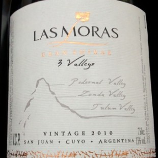 Las Moras Gran Shiraz 3 Valleys 2010